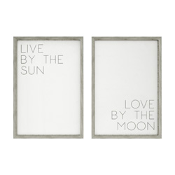 live by the sun love by the moon modern artwork