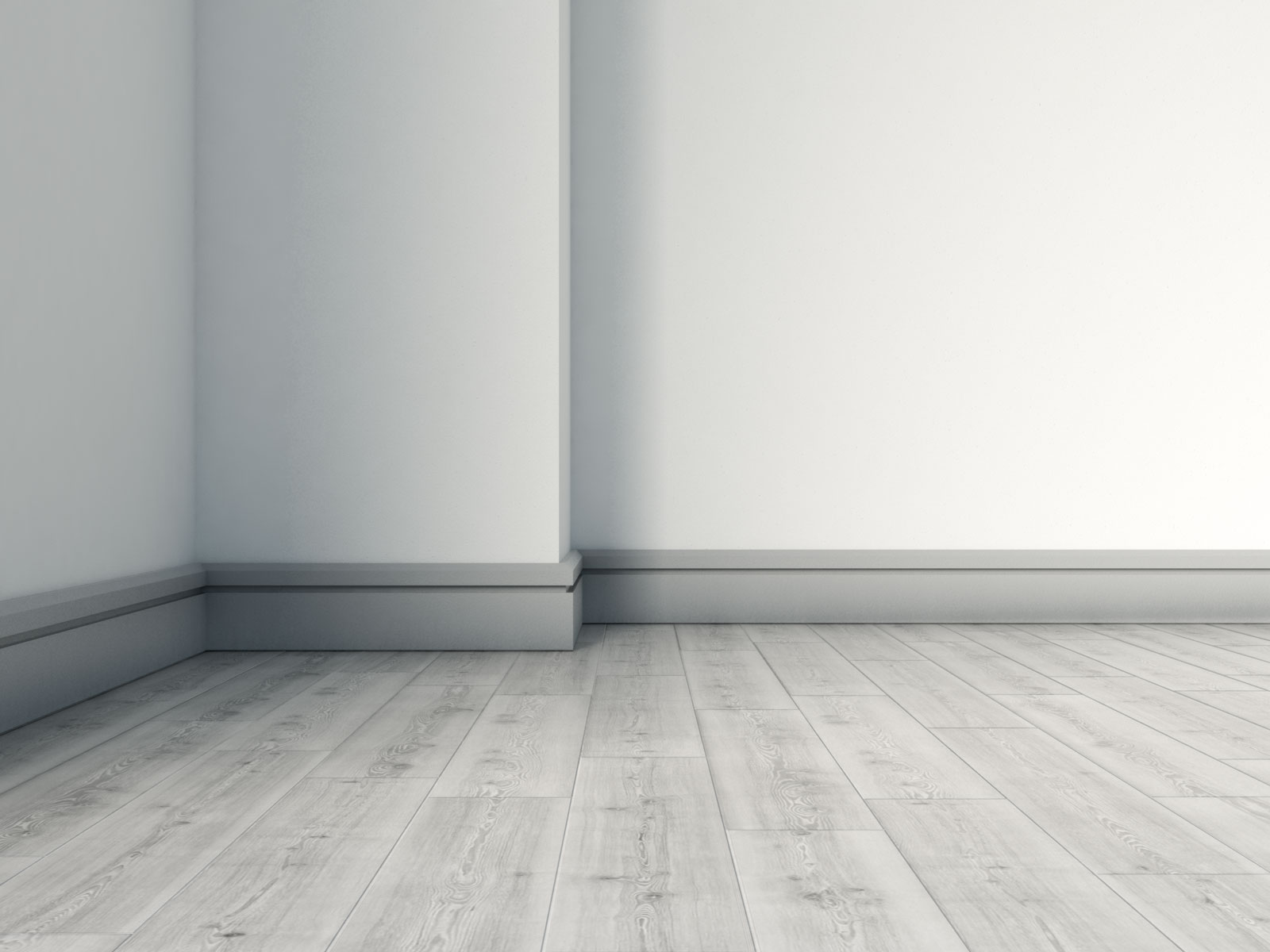Gray baseboard with gray flooring