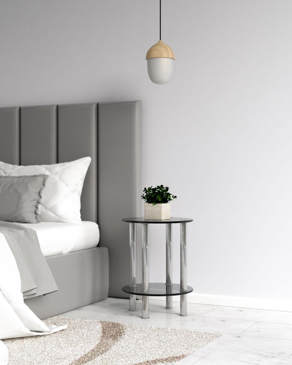 Modern black nightstand
