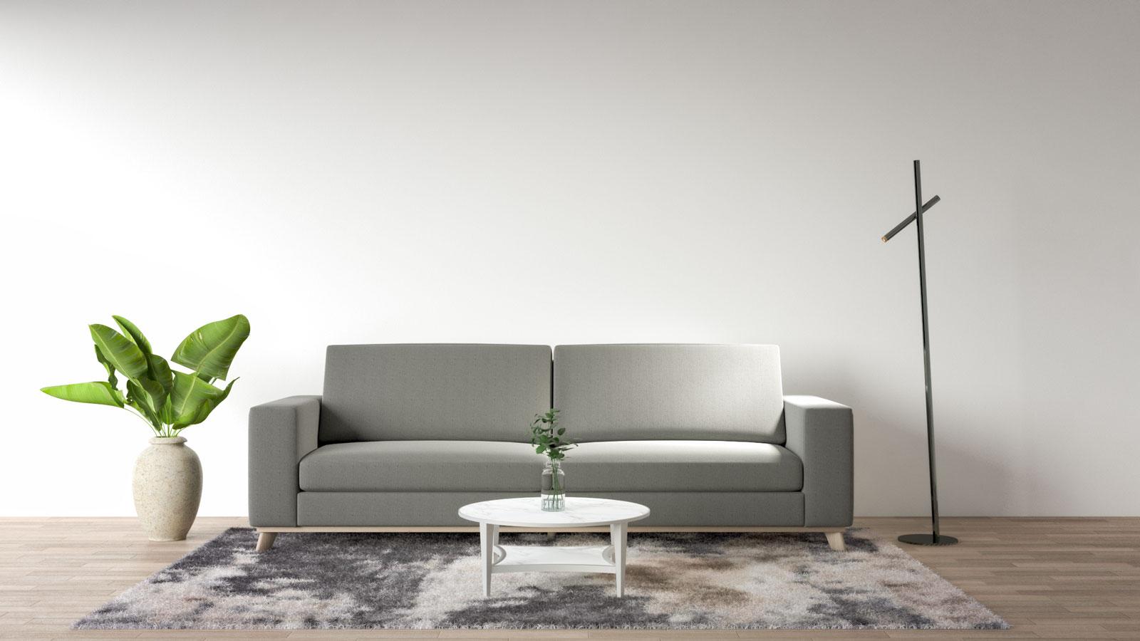 standing lamp to brighten a dark couch