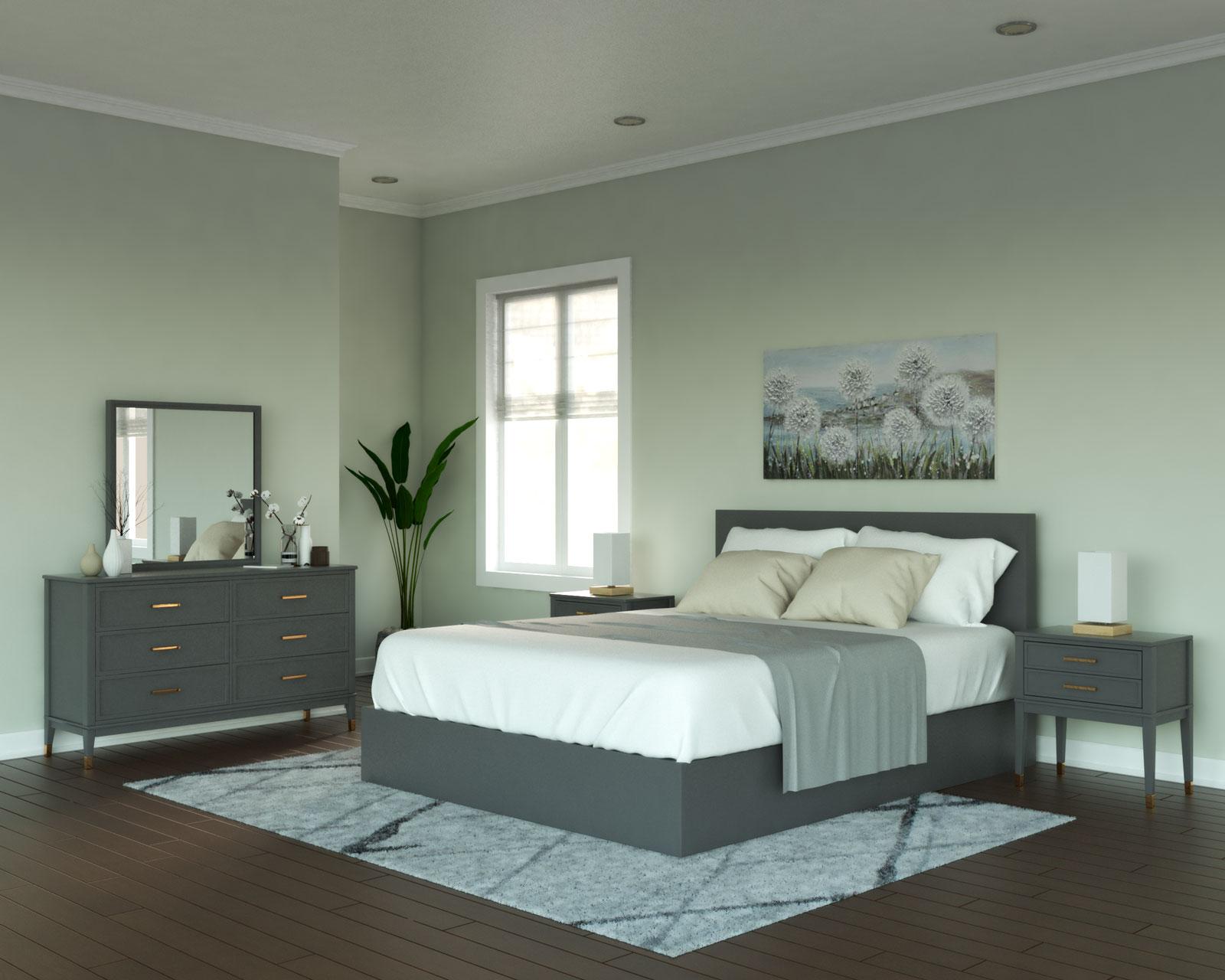 Pearl gray walls with gray furnishings