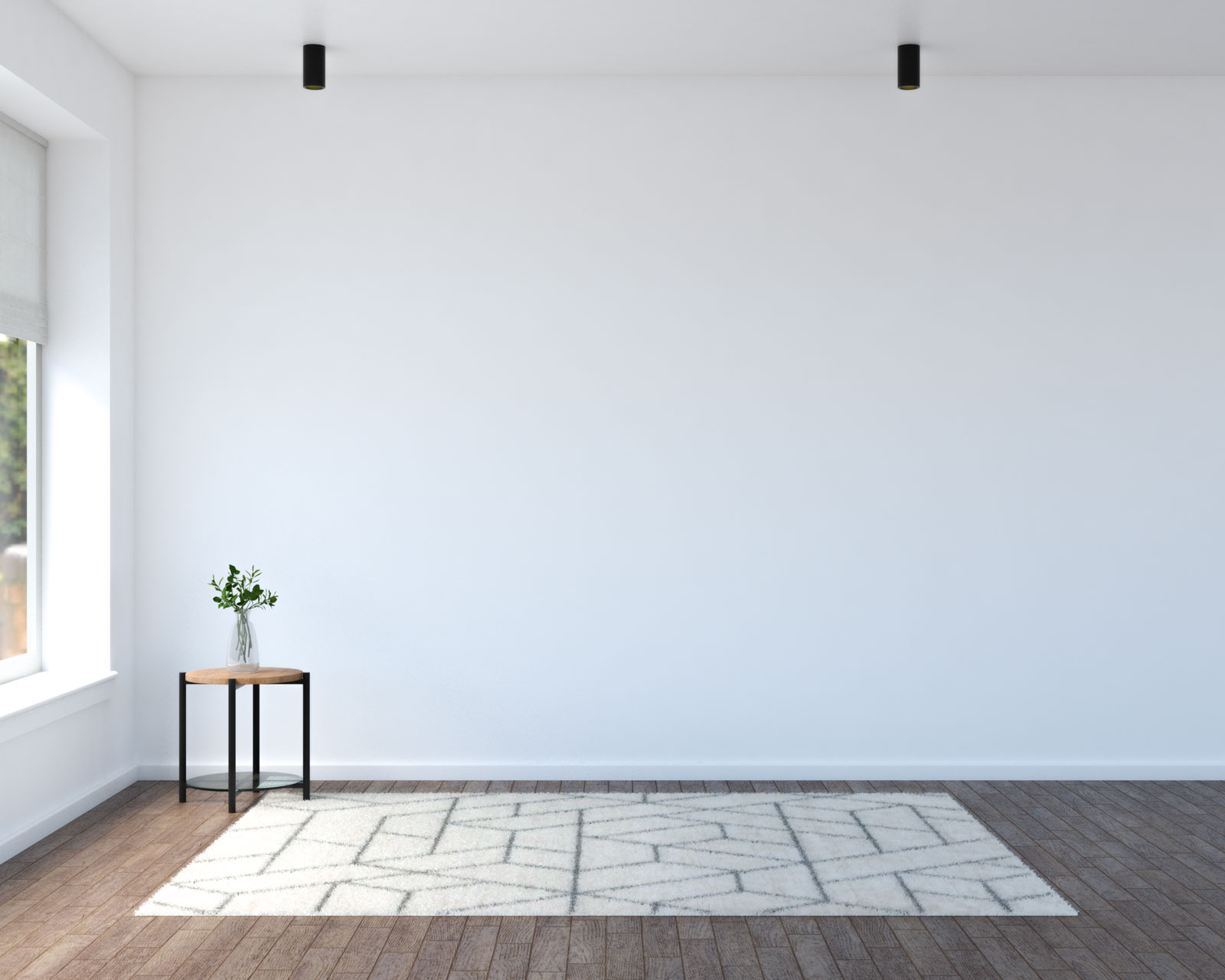 Beige geometric pattern rug