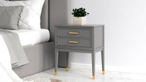 What Color Nightstand go With Gray Headboard?