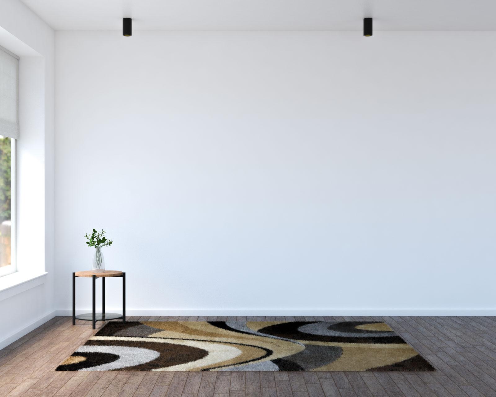 Brown and gray rug
