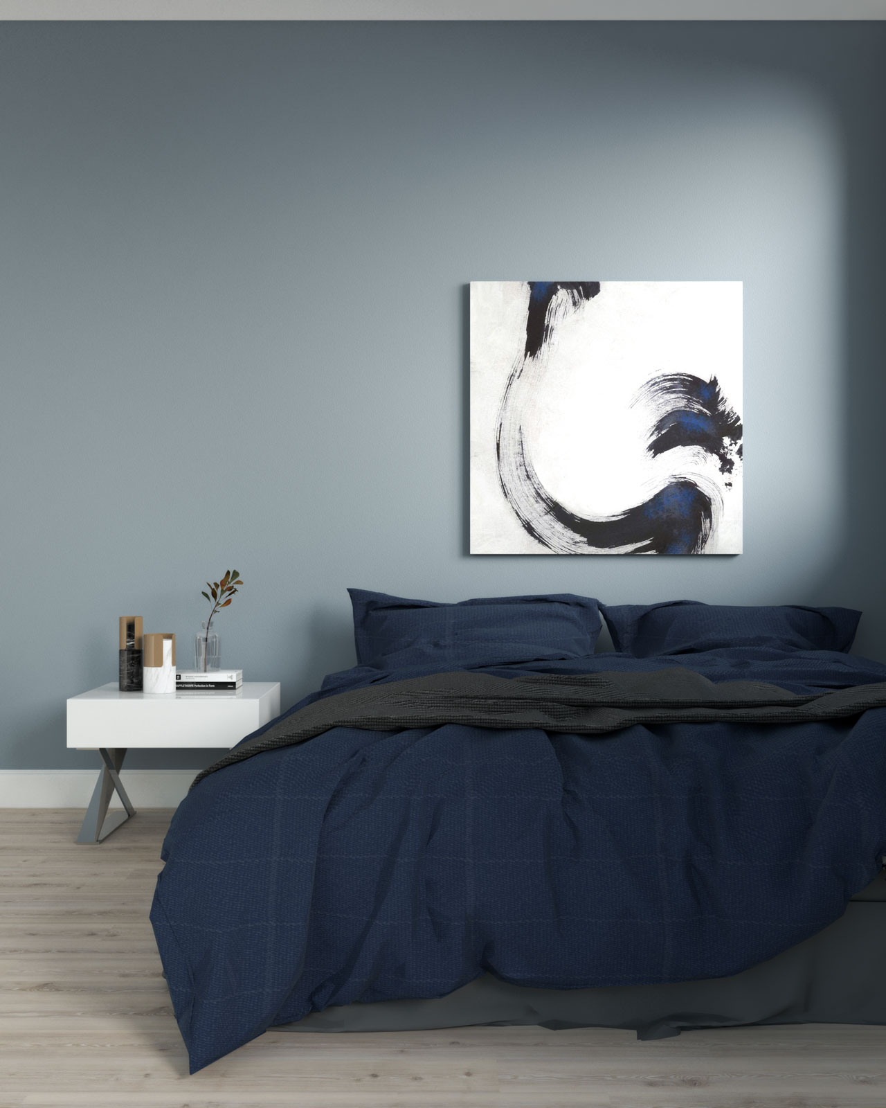 Grayish blue bedroom ideas