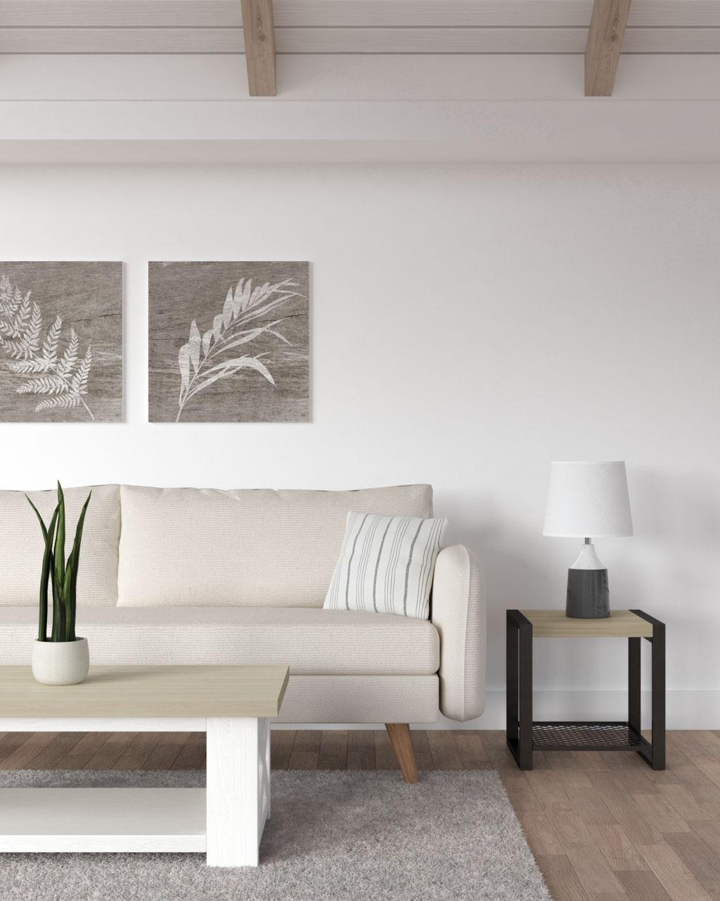 White and gray stripe farmhouse decorative pillow