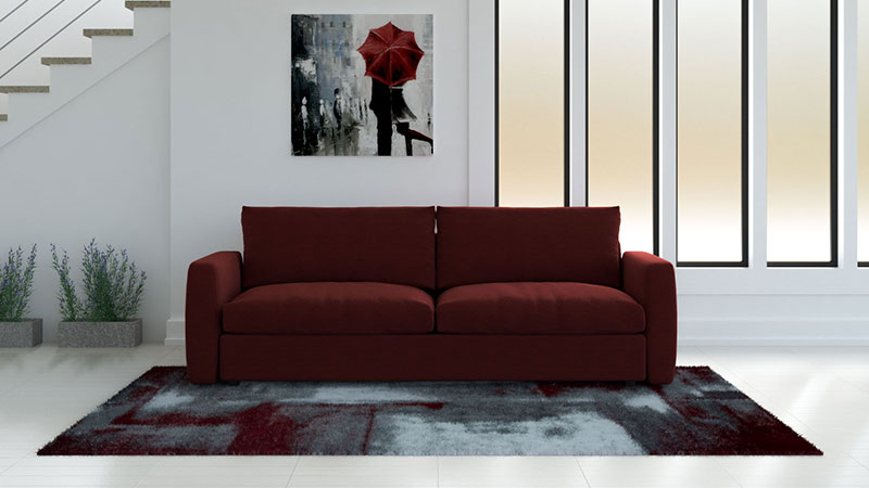 What Color Rug Goes With Red Couch?