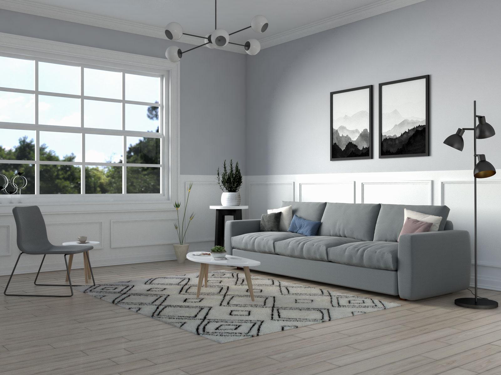 Cream scandinavian rug by nuLoom