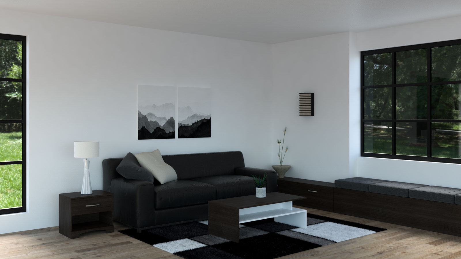Black and espresso living room ideas
