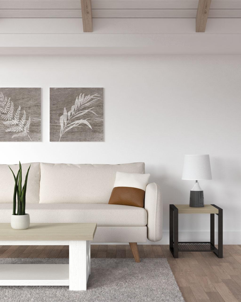 white and brown faux leather throw pillow for farmhouse decor