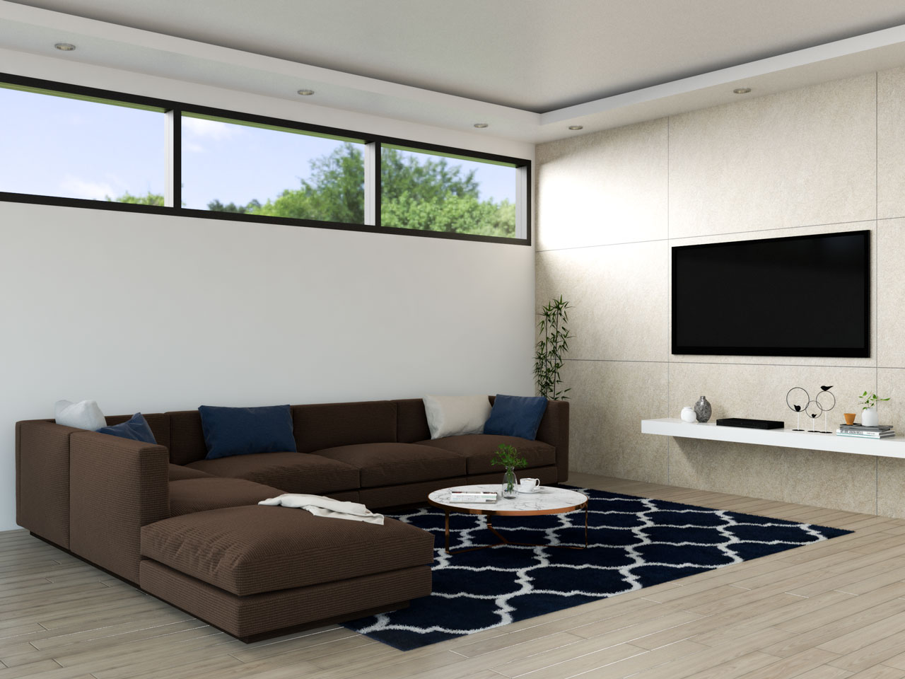 Navy and brown living room ideas