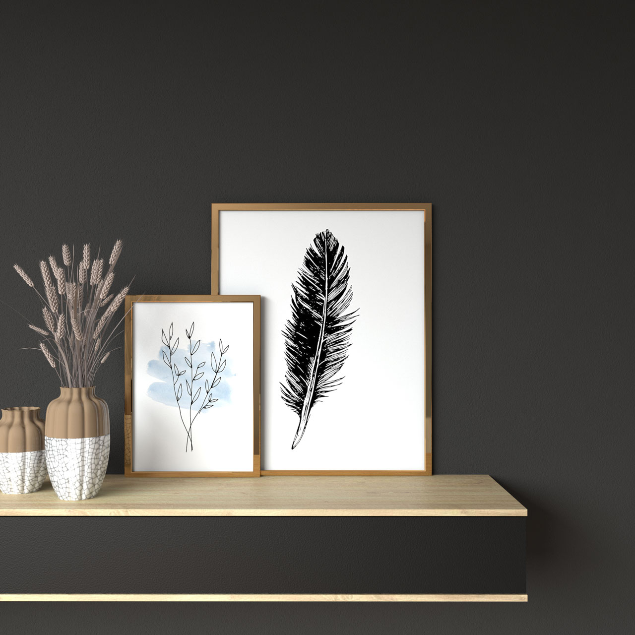 best wall color for picture frame: charcoal