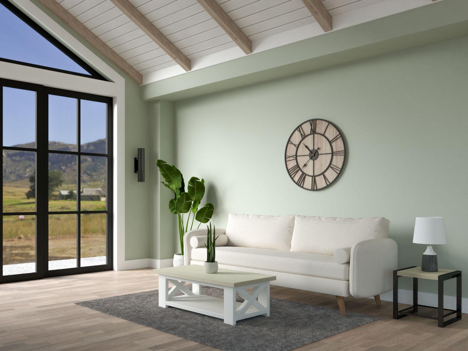Green farmhouse living room ideas