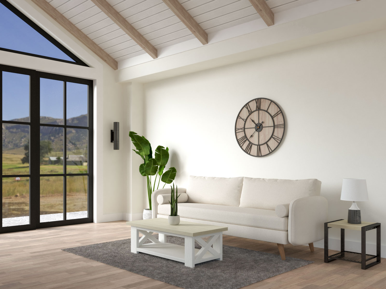 How to choose wall colors for farmhouse living room