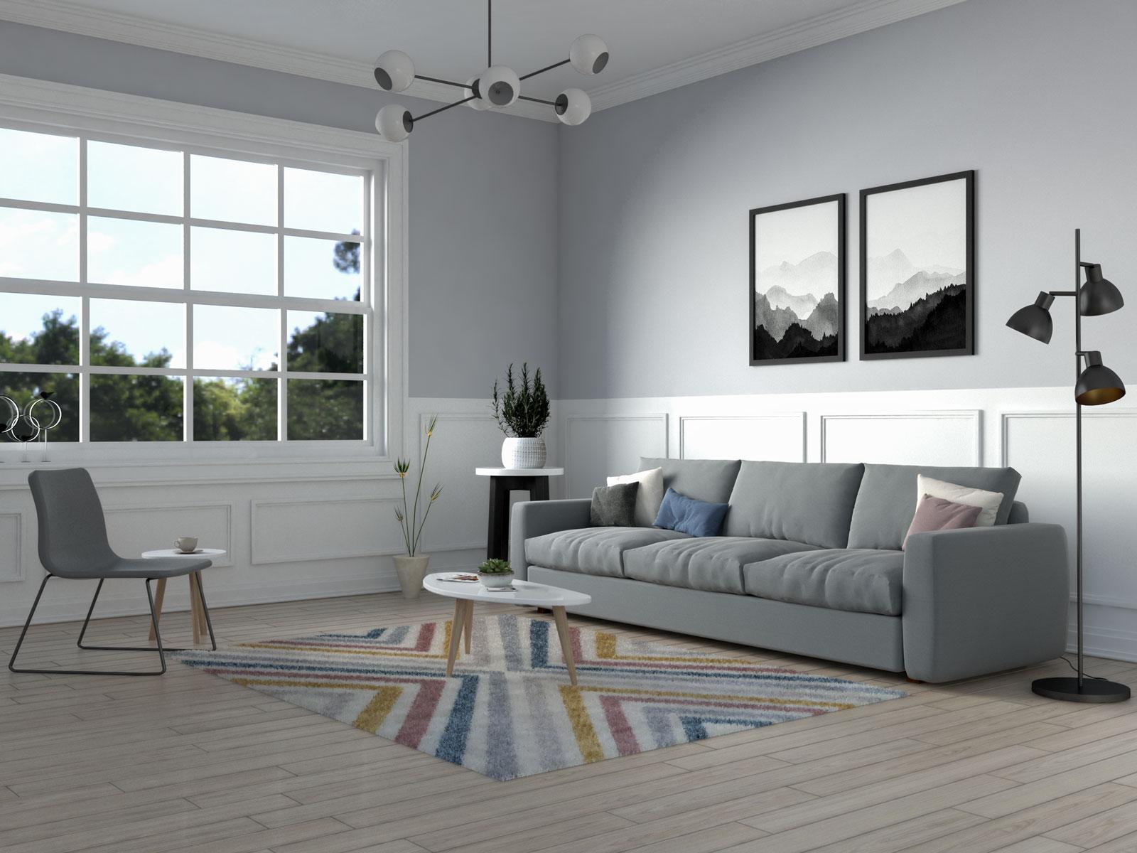 Contemporary chevron rug by nuLoom