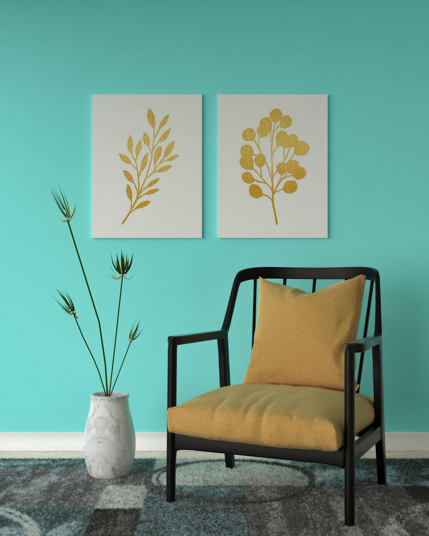 Aqua and yellow decor ideas
