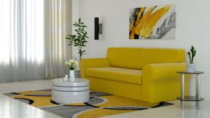 What Color Rug Goes with Yellow Couch?