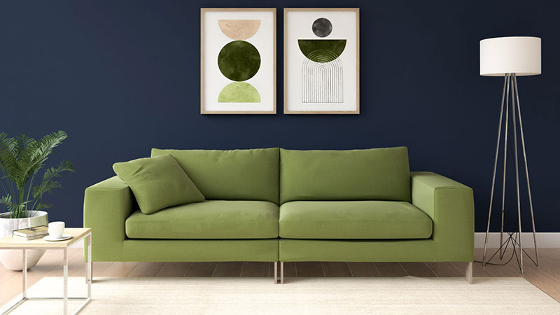 What Color Wall Goes with Olive Green Couch?
