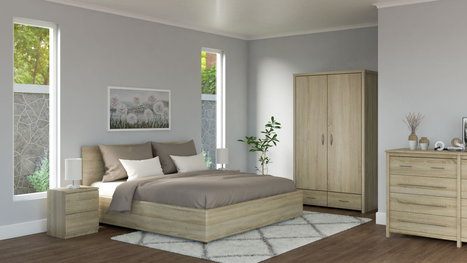 Brown and cream bedding ideas