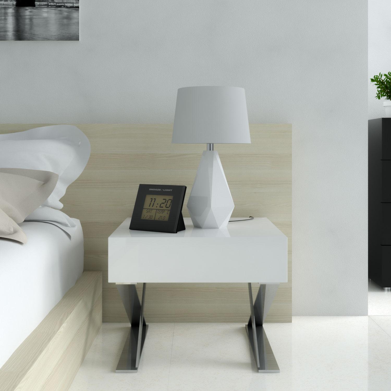 Decorate nightstand using alarm clock