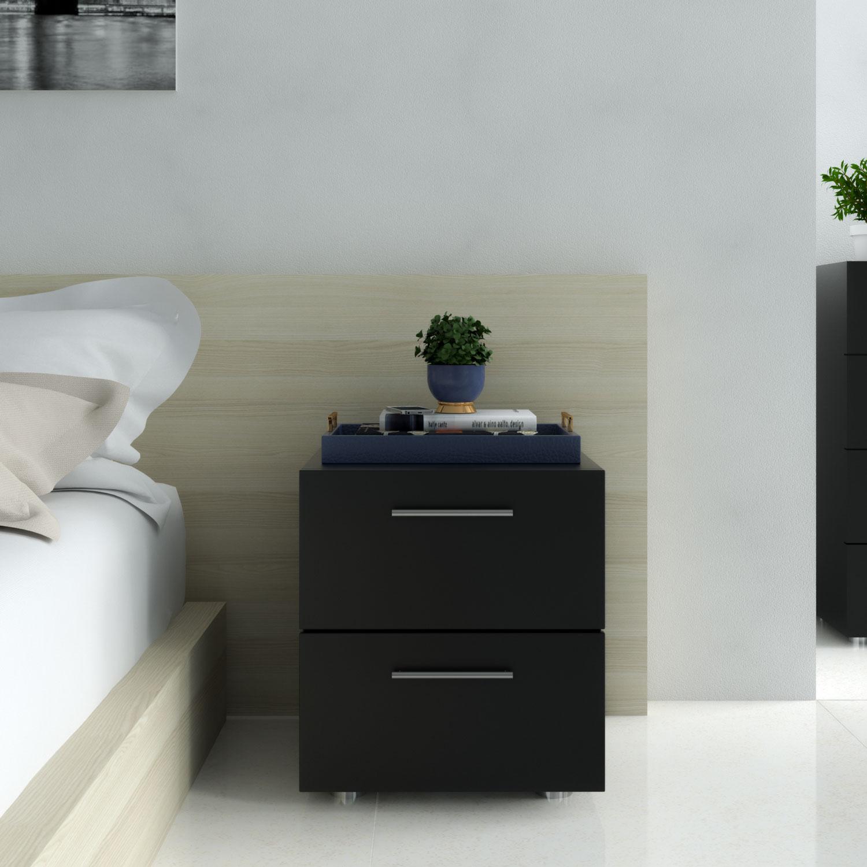 Decorate nightstand using tray