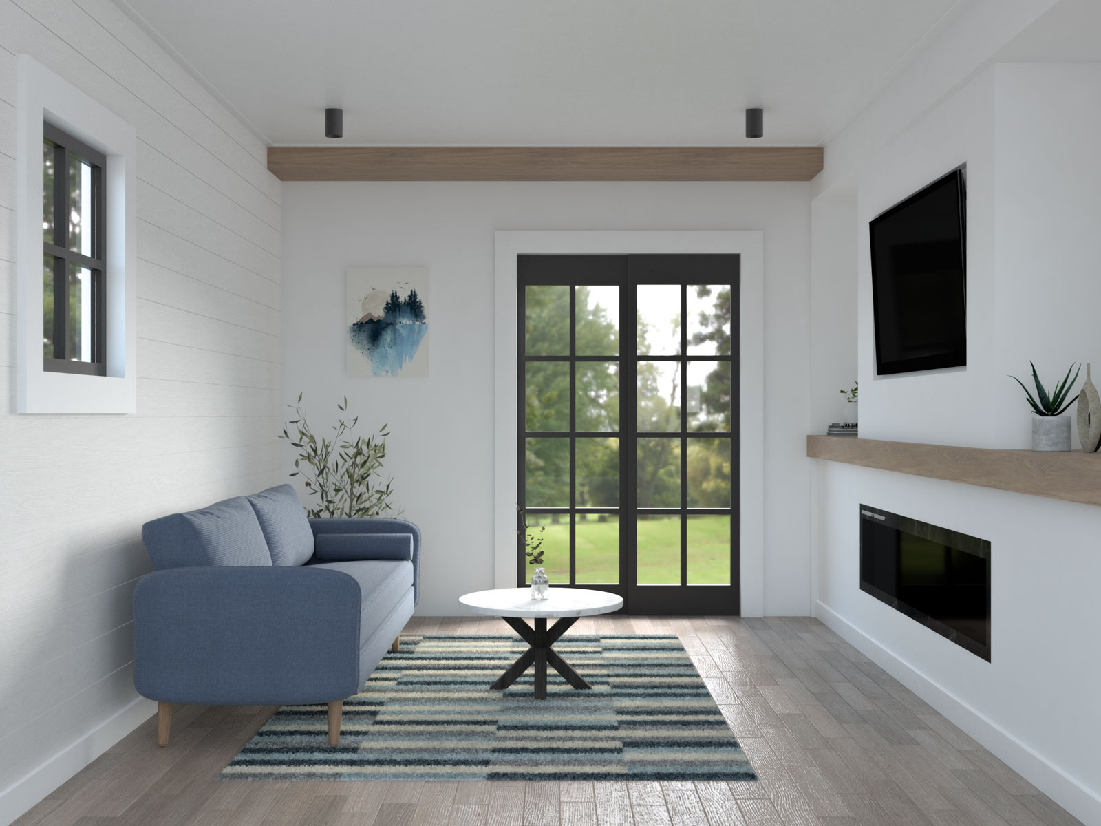 Seating ideas for small living room using single couch
