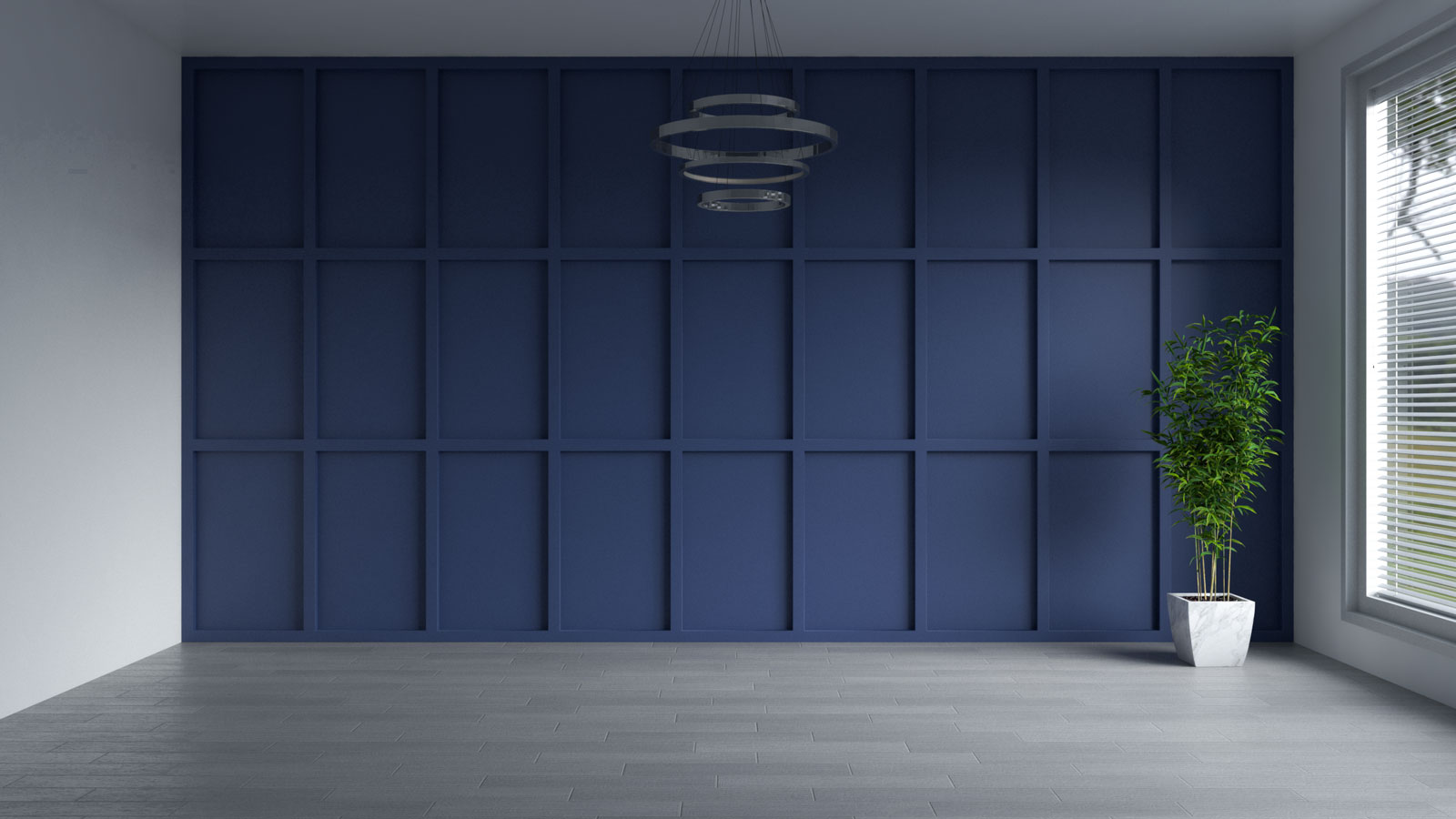 Dignified blue accent wall