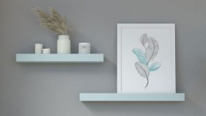 What Color Shelves Goes with Gray Wall?