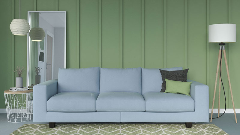 What Color Couch Goes with Sage Green Wall?