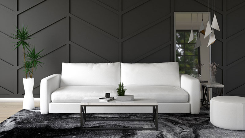 What Color Furniture Goes with Black Wall?
