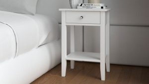 What Color Nightstand Goes with White Bed?