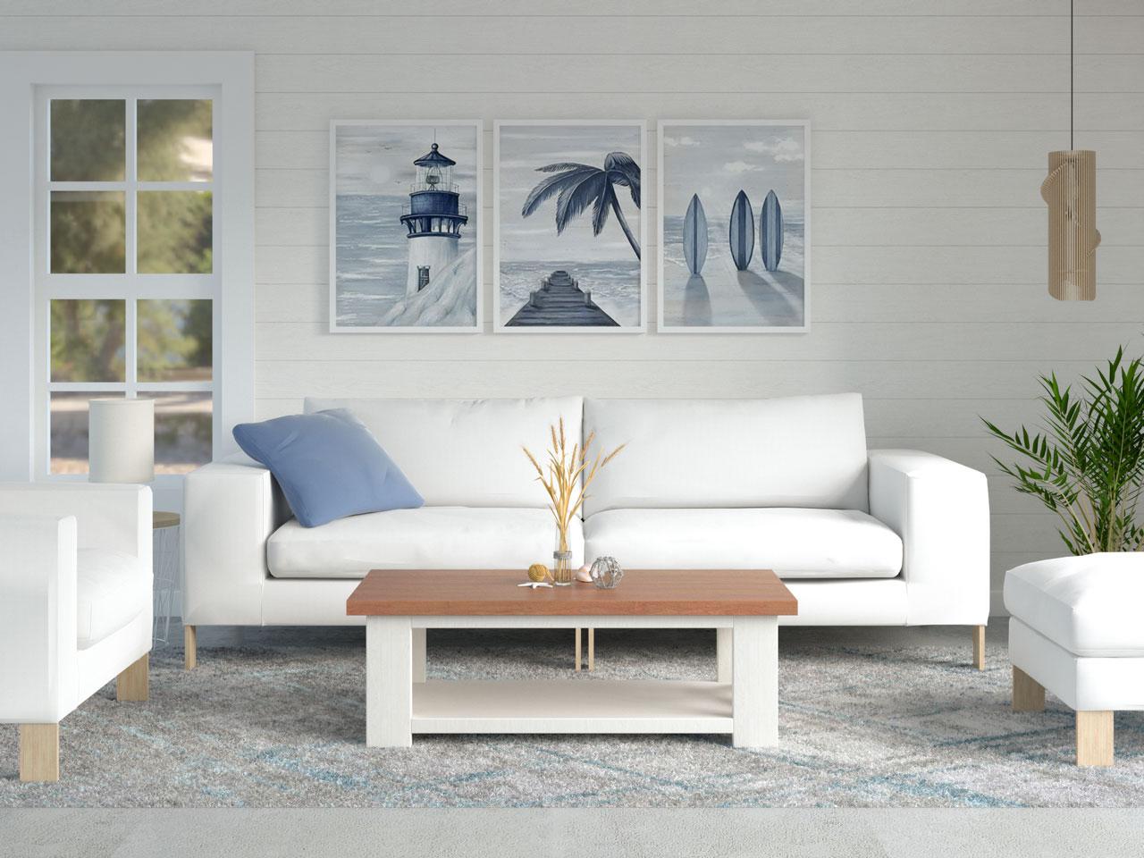 Abstract coastal rug