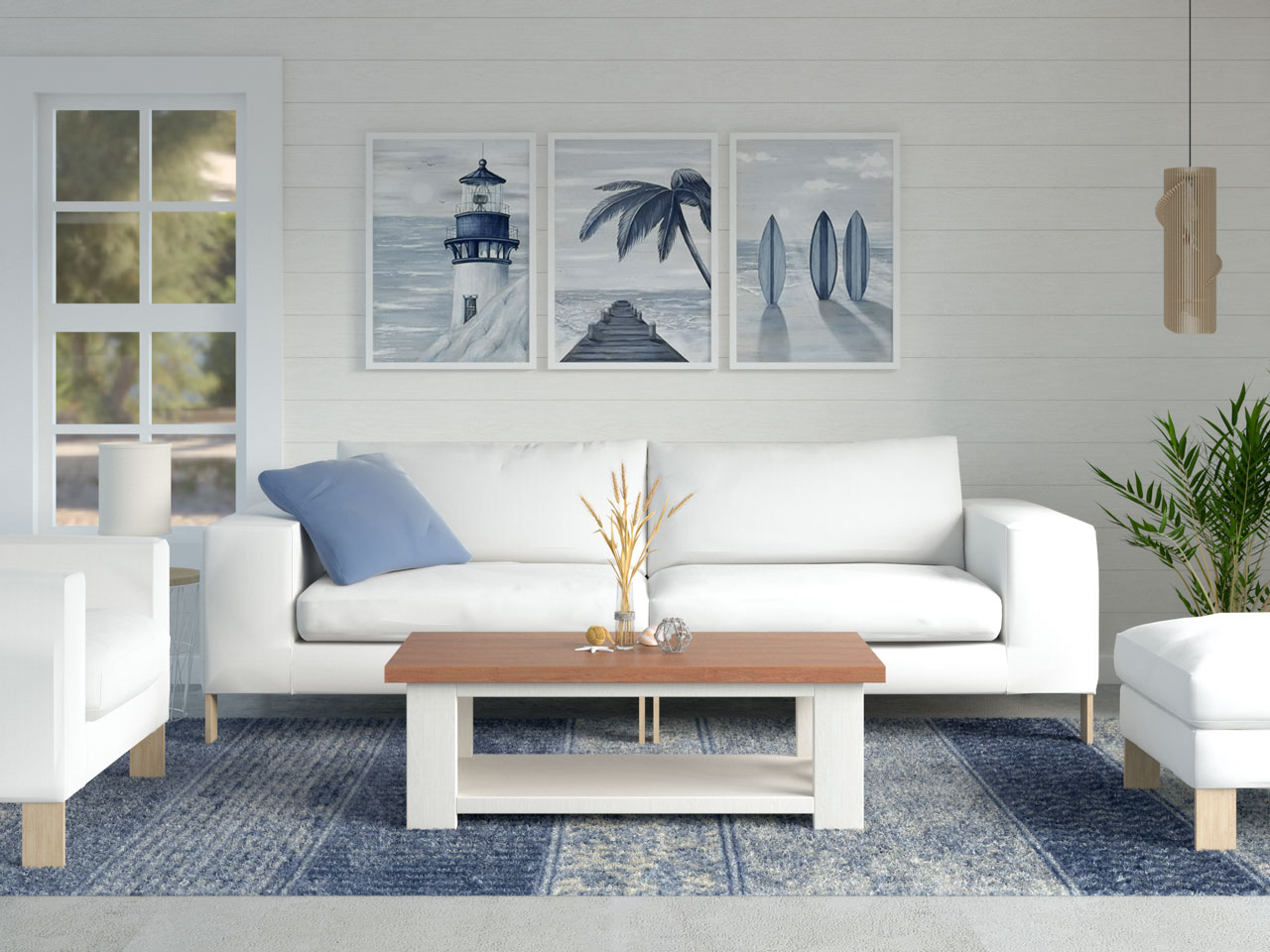 Bohemian coastal rug