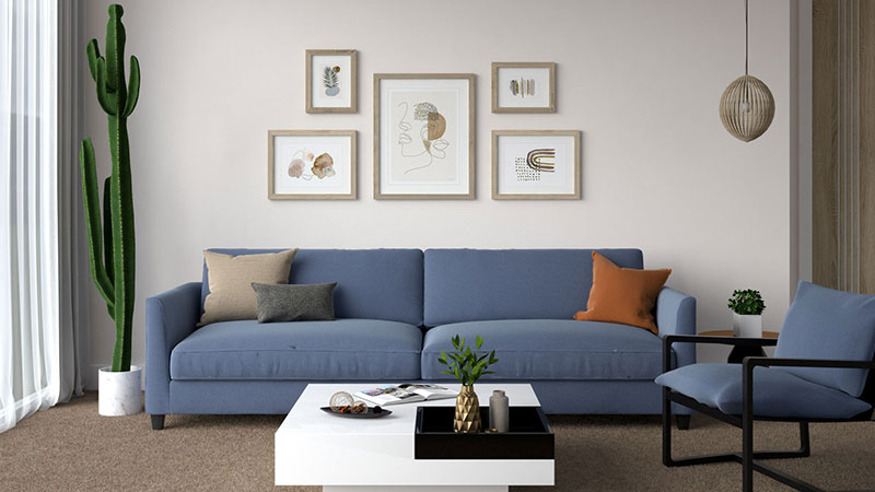 What Color Couch Goes with Brown Carpet?
