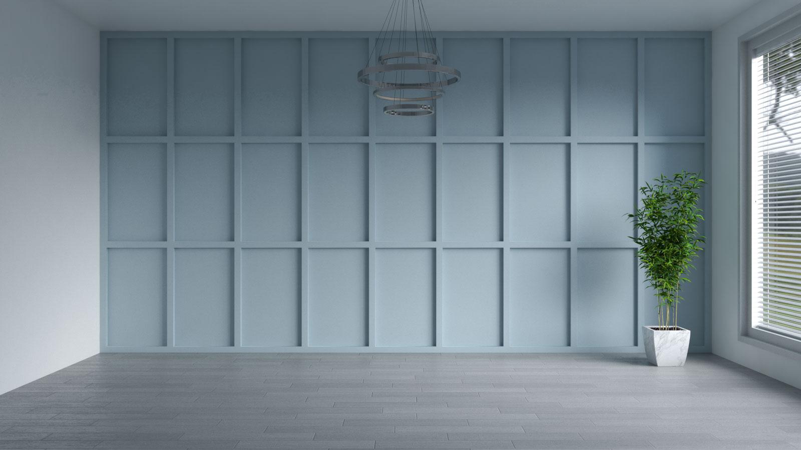 Sleepy hollow blue accent wall