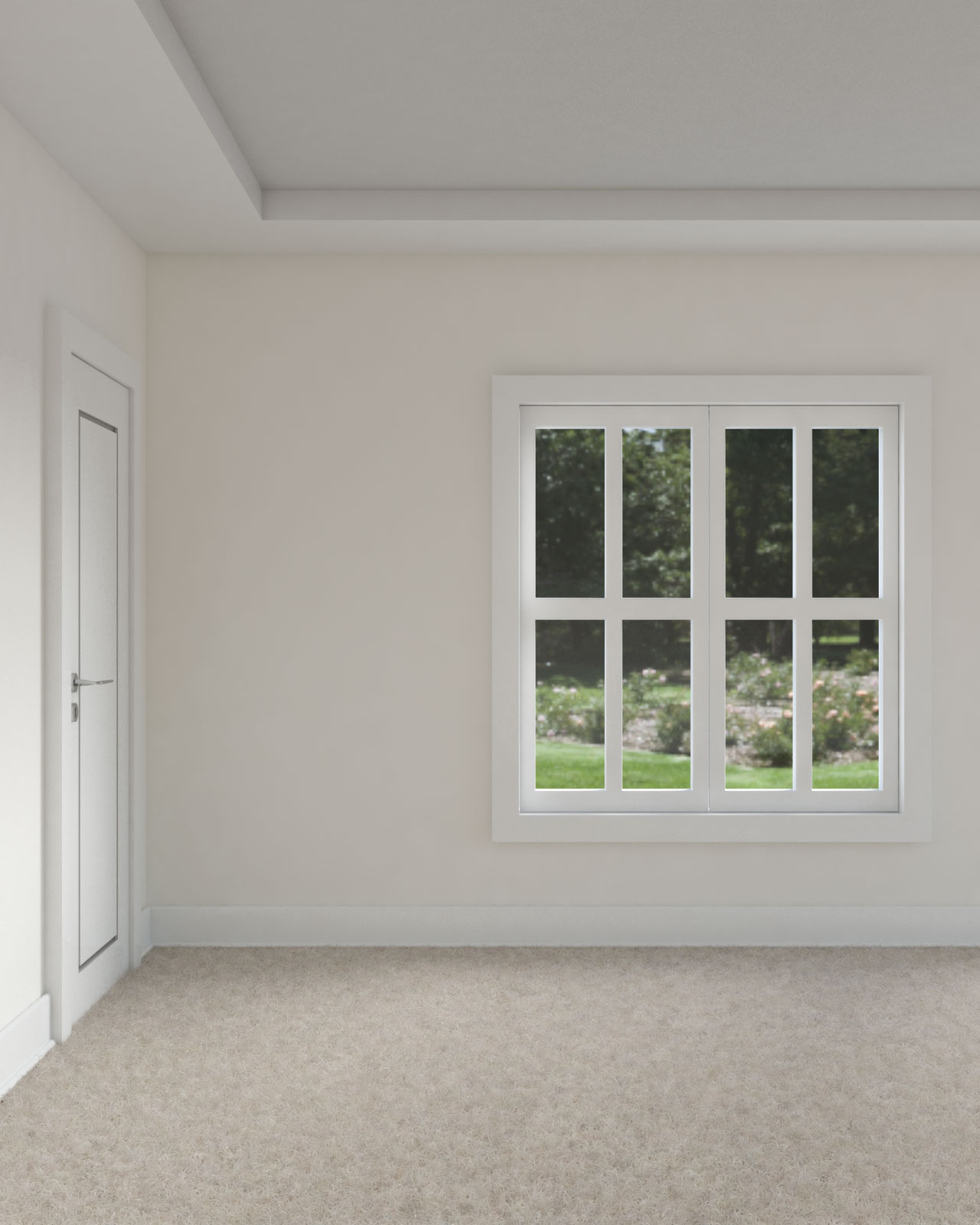 White dove walls with gray ceiling