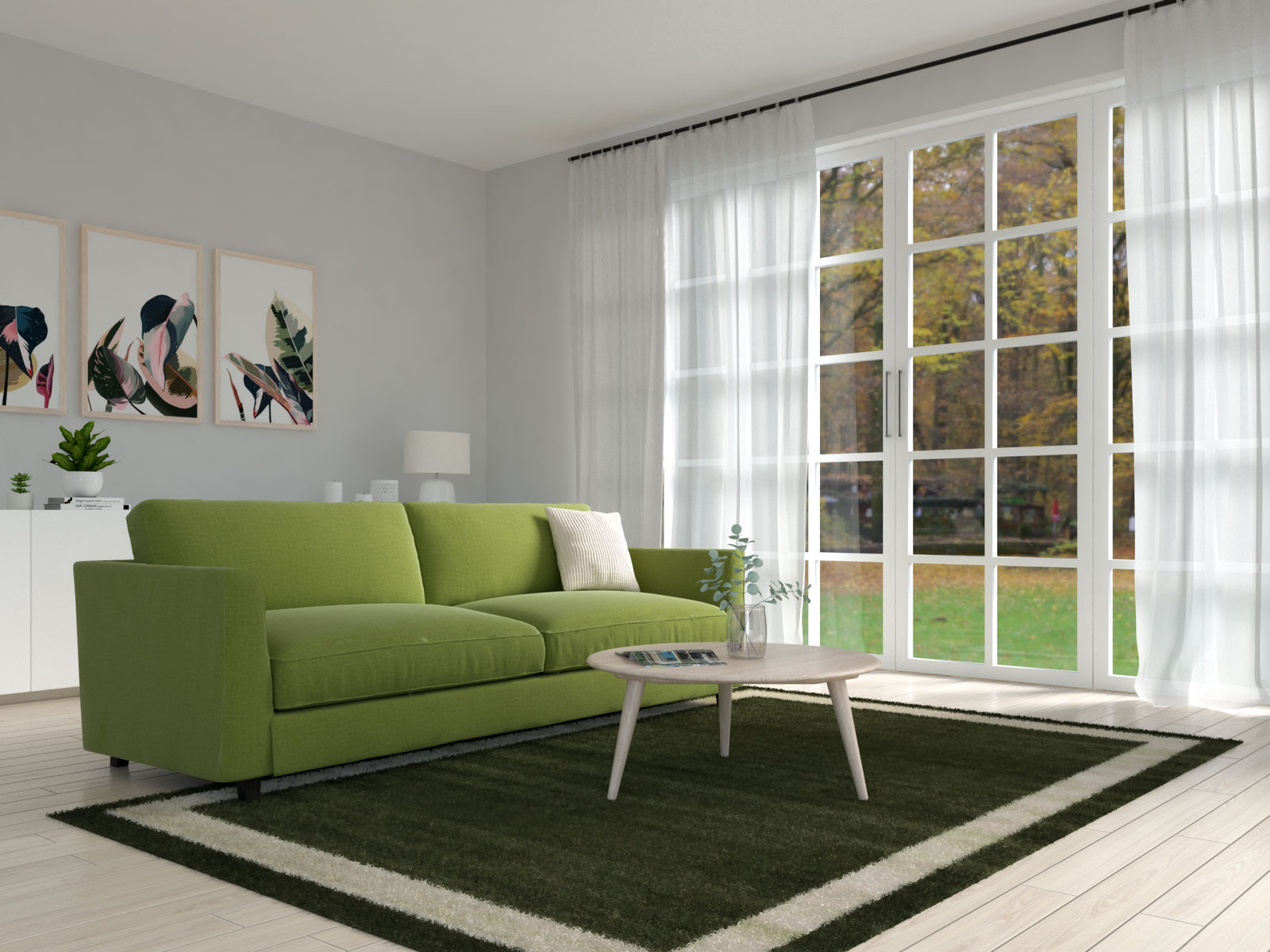 Olive and beige living room ideas