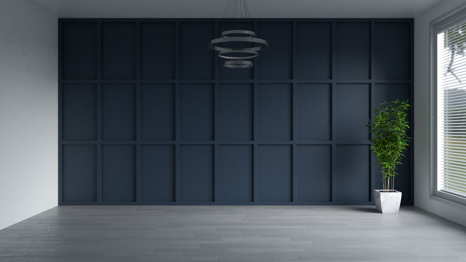 Naval blue accent wall