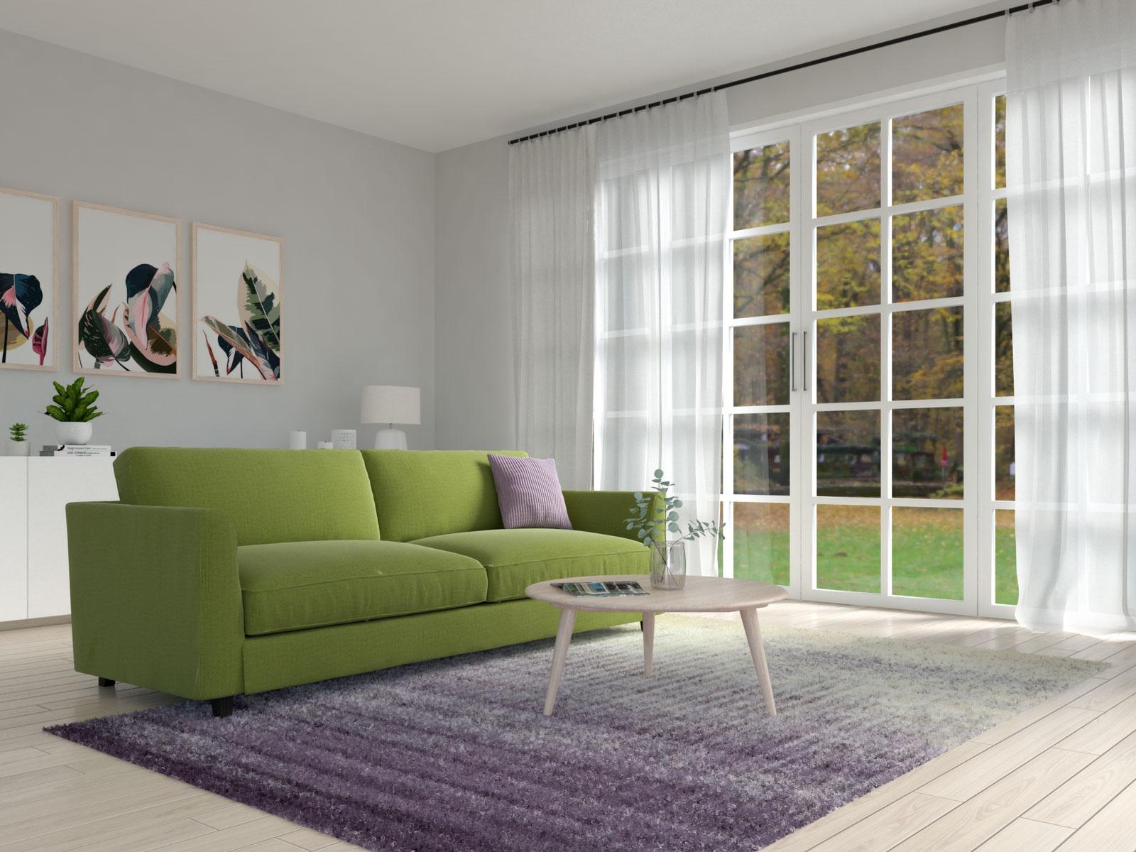 Olive and purple living room ideas