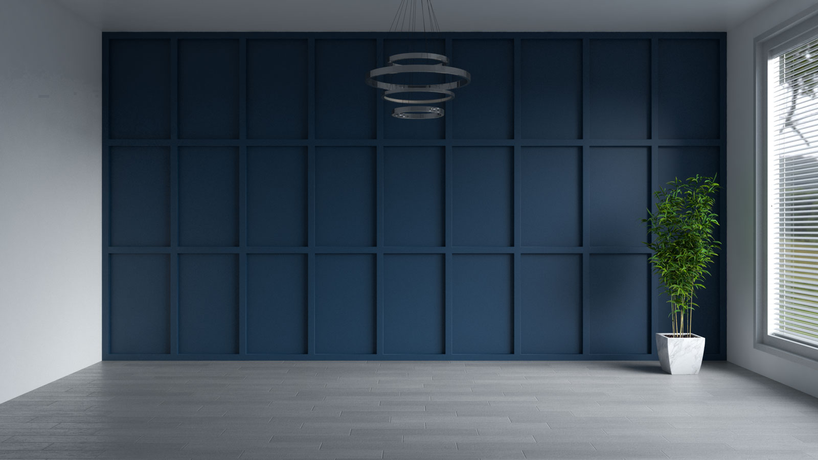 Salty dog blue accent wall