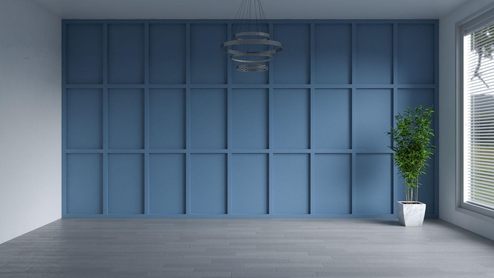 Scanda blue accent wall