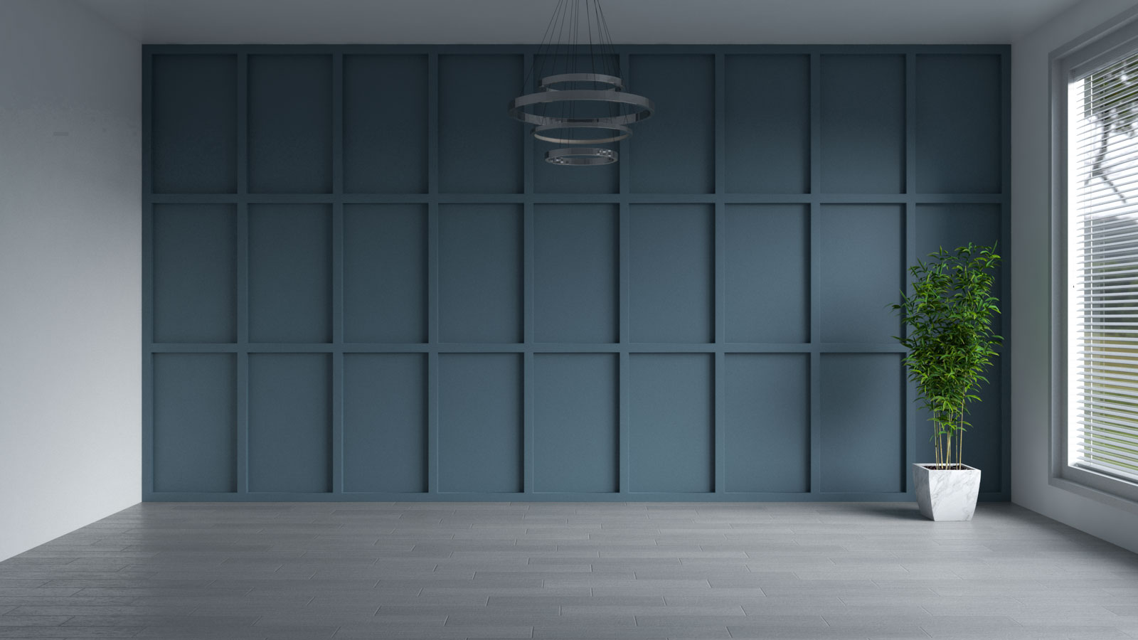 Smoky blue accent wall ideas