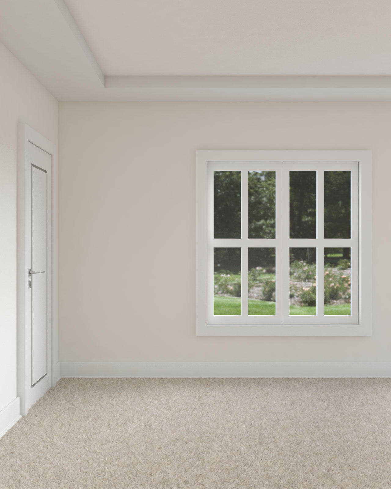 Room with white dove walls and ceiling